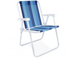 Cadeira de Praia Alta 54x54x72cm Mor Cor Sortida