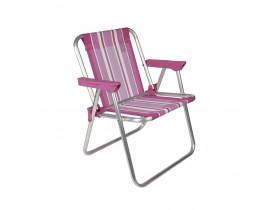 Cadeira Infantil Alta Alumínio Rosa Mor