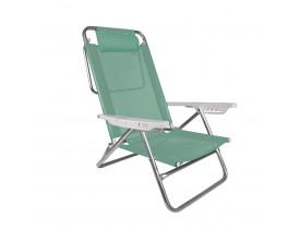Cadeira Reclinável Summer com Almofada Alumínio 6 posições Anis Mor