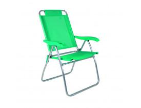 Cadeira Reclinável Boreal Alumínio 4 Posições Anis 61x62x101cm Mor