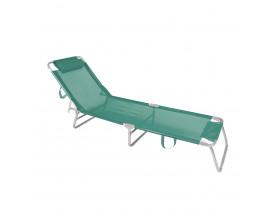 Cadeira Espreguiçadeira Alumínio Turquesa 13x56x72 Mor