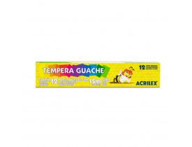 Tempera Guache 12 Cores Acrilex