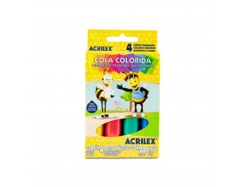 Cola Colorida 4 unidades Acrilex