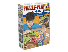 Puzzle Play Gigante 45 Peças Mapa do Brasil Grow