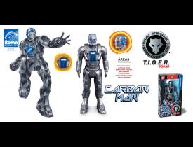 Brinquedo Tiger Squad Carbon Man Roma Cor Sortida
