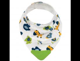 Bandana Baby com Mordedor Happy Zoo Verde Buba