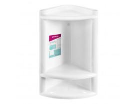 Cantoneira para Banheiro de Plástico Branco Primafer