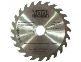 Disco de Corte para Madeira Circular 4.3/8'' Mundi Ferramentas