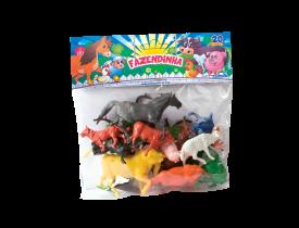 Miniatura Fazendinha Completo com 20 peças Brasilflex