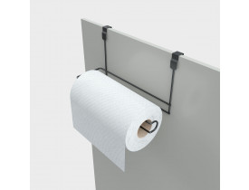 Porta Papel Toalha De Armário 10x13x23cm Black Stolf