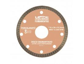 Disco Diamantado para Porcelanato Extra Fino 4.3/8'' Mundi Ferramentas