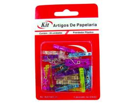 Prendedor Mini de Plástico 25 peças Kit
