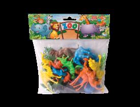 Miniatura Zoológico Completo com 28 peças Brasilflex