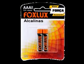 Pilha Alcalina AAA 2 Pilhas 1,5V Foxlux