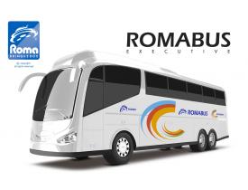 Ônibus Romabus Branco Roma