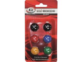Imã Colorido com 6 unidades Kit.