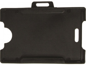 Porta Crachá Preto com 10 unidades Kit