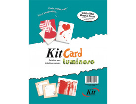 Papel Kit Cards Luminoso A4 com 25 folhas Kit
