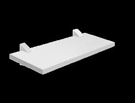 Prateleira Reta com Suporte Concept 1,5x20x80cm Branca Prat-K