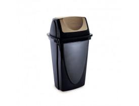 Lixeira Ecoblack Basculante 9 litros 18X23X40cm Plasútil