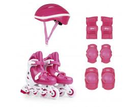 Kit Roller Infantil Tamanho 34-37 Rosa Mor