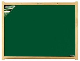 Quadro Escolar Verde 50x40cm Moldura de Madeira Souza