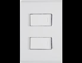 Conjunto 4x2 com 2 Interruptores Simples Branco Liz Tramontina