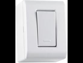 Caixa de Sobrepor com 1 Interruptor Simples 10A LixFlex Branca Tramontina