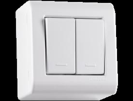 Caixa de Sobrepor com 2 Interruptores Simples 10A LixFlex Branca Tramontina