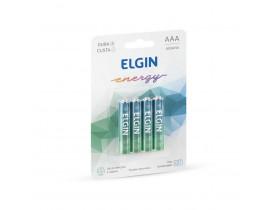 Pilha Alcalina AAA 4 Pilhas 1,5V Elgin