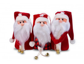 Papai Noel de Pelúcia para Enfeite Cheirinho Santa Klaus 20cm