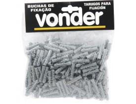 Bucha Plástica de Fixação 6mm VP6 com 200 unidades Vonder
