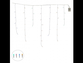 Cascata 100 Led com 8 Funções Colorida 70cm x 2,75 metros D&A