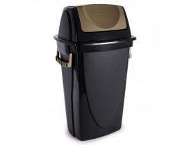 Lixeira Ecoblack Basculante 58 litros 34X42X73cm Plasútil