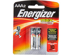 Pilha Alcalina AAA 2 Pilhas 1,5V Energizer
