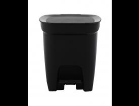 Lixeira Compact de Pedal 7 litros Preta 21X24X26cm Tramontina