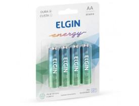 Pilha Alcalina AA 4 Pilhas 1,5V Elgin