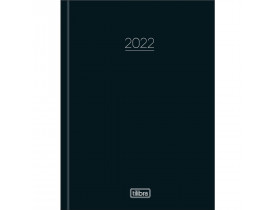 Agenda Costurada 2022 Pepper Preta Tilibra