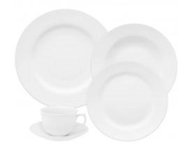 Aparelho De Jantar / Chá Oxford Flamingo White 30 peças