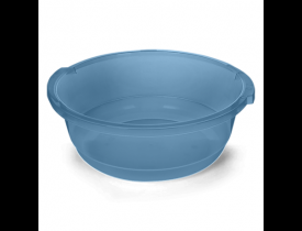 Bacia Redonda 19,5 litros Azul Transparente Plasvale