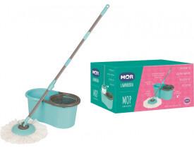 Esfregão Mop Mor Limpeza Prática Azul Turquesa