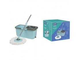 Esfregão Mop Mor Premium Limpeza Prática Azul Turquesa