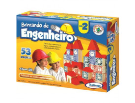 Brincando de Engenheiro II 53 peças Xalingo