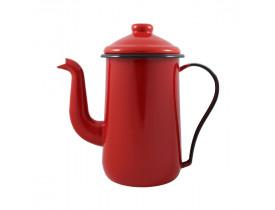 Bule para Café Tradicional 14 Esmaltado Vermelho Ewel