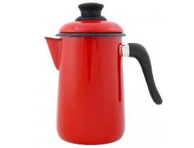 Bule Para Café Ewel Esmaltado Vermelho 1,5 litros