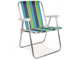 Cadeira de Praia  Alta Alumínio 53X54X72cm Mor Cor Sortida