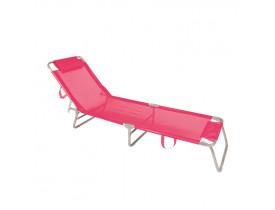 Cadeira Espreguiçadeira Alumínio Mor 198x60x42cm Cor Sortida 002704
