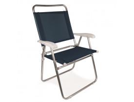 Cadeira Master Alumínio Plus Azul 58x61x94cm Mor
