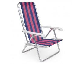 Cadeira Reclinável Alumínio 8 Posições 53x68x87cm Mor Cor Sortida