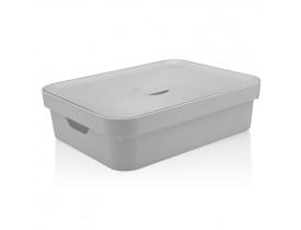 Caixa Organizadora Cube com Tampa Ou Martiplast GD 45x35,5x13cm Branca CC550